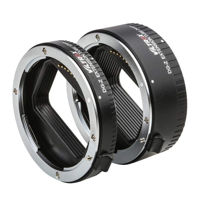 VILTROX DG-Z Brass Bayonet Autofocus Macro Extension Tube Ring for Nikon Z6 Z7 Z50 Mirrorless Camera