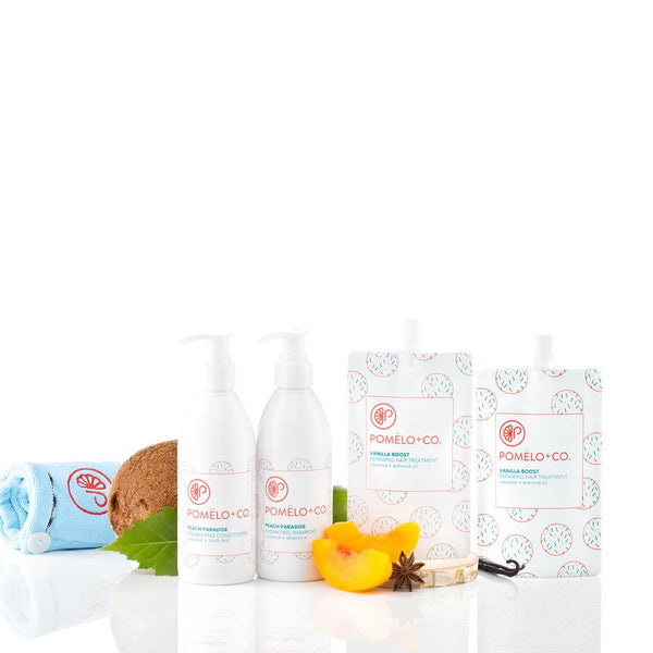 <b>PEACH ESSENTIALS DUO SET </b><br>Shampoo + Balsamo + 2 Trattamenti