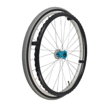 "P-WAC-22-01-01  22''x1"" Fixed Aluminum Rim with Pneumatic Tires Presta Valve with Plastic Handrim (Without Drum Brakes)"