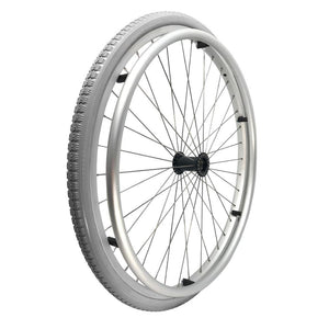 P-WAQ-24-01-01  24''x 1 3/8  Quick Release Aluminum Rim with PU Tires with Aluminum Hand Rim