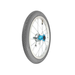 "P-WAC-16-01-02 L 16''x1.5"" Fixed Aluminum Rim with Pneumatic Tires Presta Valve (With Drum Brakes)"