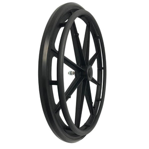 P-WP-24-01-01    24''x1 Fixed Plastic Rim with PU Tires