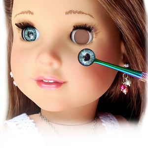 Deluxe Two-Piece Infinity™ Premium Blinking Doll Eyes