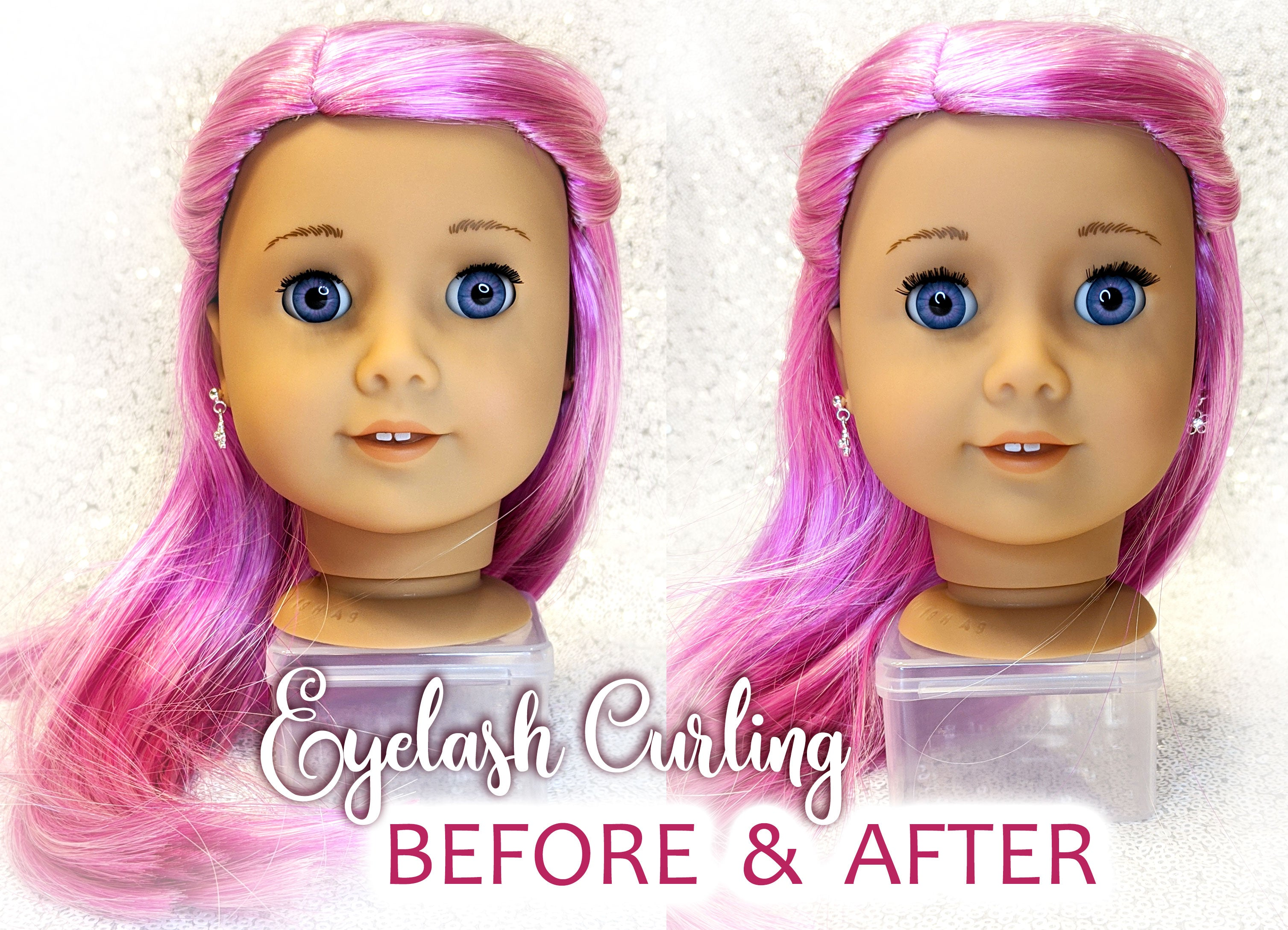 Doll Eyelashes Curling Tutorial