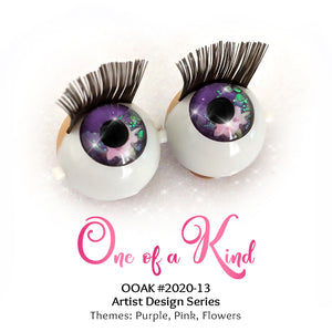 One of a Kind (#2020-13) - Premium 3D Infinity™ Blinking Doll Eyes (Light Skin Eyelids, Black-Brown Eyelashes)