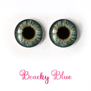 Beachy Blue - Premium Adhesive Glass Irises for Infinity™ Doll Eyes