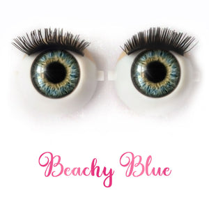 *IMPERFECT* Beachy Blue - Premium Classic Infinity™ Blinking Doll Eyes