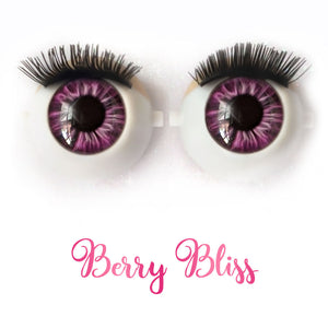 Berry Bliss - Premium Adhesive Glass Irises for Infinity™ Doll Eyes