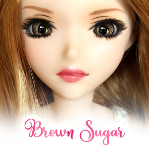 Brown Sugar - Glass Oval Doll Eyes for Semi-Real SD (16mm Width, 9mm Iris)