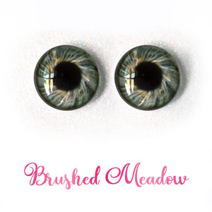 Brushed Meadow - Premium Adhesive Glass Irises for Infinity™ Doll Eyes