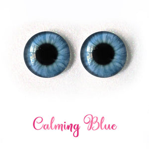Calming Blue - Premium Adhesive Glass Irises for Infinity™ Doll Eyes