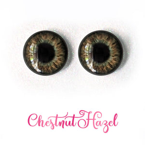 Chestnut Hazel - Premium Adhesive Glass Irises for Infinity™ Doll Eyes