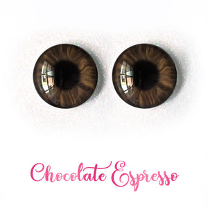 Chocolate Espresso - Premium Adhesive Glass Irises for Infinity™ Doll Eyes