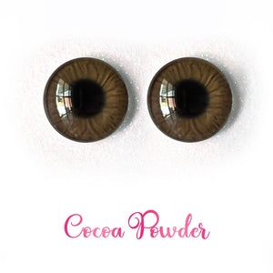 Cocoa Powder - Premium Adhesive Glass Irises for Infinity™ Doll Eyes