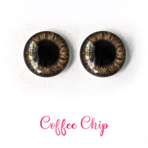 Coffee Chip - Premium Adhesive Glass Irises for Infinity™ Doll Eyes