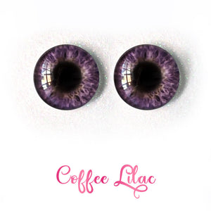 Coffee Lilac - Premium Adhesive Glass Irises for Infinity™ Doll Eyes
