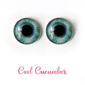 Cool Cucumber - Premium Adhesive Glass Irises for Infinity™ Doll Eyes