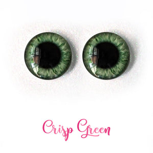 Crisp Green - Premium Adhesive Glass Irises for Infinity™ Doll Eyes