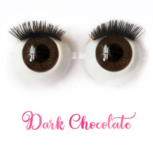 *IMPERFECT* Dark Chocolate - Premium Classic Infinity™ Blinking Doll Eyes