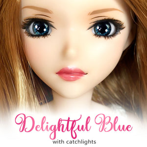 Delightful Blue (Anime) - Reflective BJD Eyes in SD Semi-Real Size (18mm Eye, 8mm Iris)