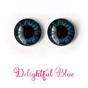 Delightful Blue - Premium Adhesive Glass Irises for Infinity™ Doll Eyes