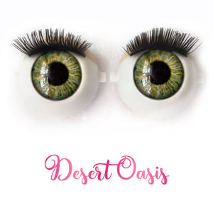 Desert Oasis - Premium Classic Infinity™ Blinking Doll Eyes (Light Skin Eyelids, Black-Brown Eyelashes)