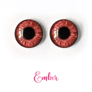 Ember - Premium Adhesive Glass Irises for Infinity™ Doll Eyes