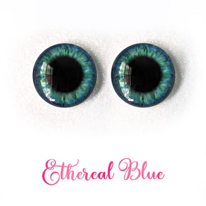 Ethereal Blue - Premium Classic Infinity™ Blinking Doll Eyes (Light Skin Eyelids, Black-Brown Eyelashes)