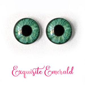Exquisite Emerald - Premium Adhesive Glass Irises for Infinity™ Doll Eyes