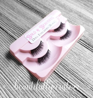 Two Pairs of Deluxe Doll Eyelashes – Bold and Beautiful (Black)