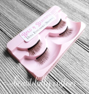 Two Pairs of Deluxe Doll Eyelashes – Bold and Beautiful (Brown)