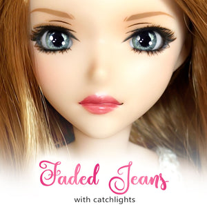 *IMPERFECT* Faded Jeans (Anime) - Reflective BJD Eyes in SD Semi-Real Size (18mm Eye, 8mm Iris)