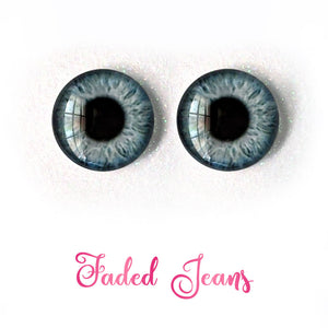 Faded Jeans - Premium Adhesive Glass Irises for Infinity™ Doll Eyes