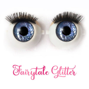 Fairytale Glitter - Premium 3D Infinity™ Blinking Doll Eyes (Light Skin Eyelids, Black-Brown Eyelashes)