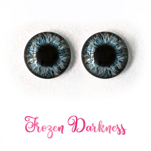 Frozen Darkness - Premium Adhesive Glass Irises for Infinity™ Doll Eyes
