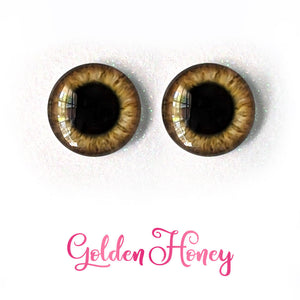 Golden Honey - Premium Adhesive Glass Irises for Infinity™ Doll Eyes