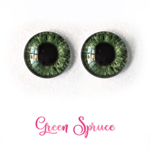 Green Spruce - Premium Adhesive Glass Irises for Infinity™ Doll Eyes