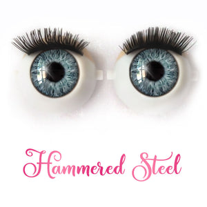 Hammered Steel - Premium Classic Infinity™ Blinking Doll Eyes