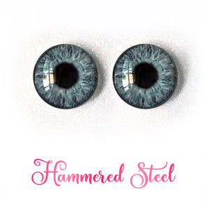 Hammered Steel - Premium Adhesive Glass Irises for Infinity™ Doll Eyes