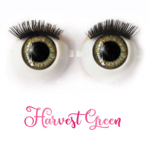 Harvest Green - Premium Adhesive Glass Irises for Infinity™ Doll Eyes