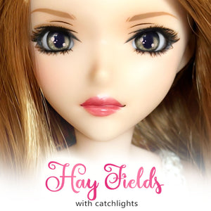 *IMPERFECT* Hay Fields (Anime) - Reflective BJD Eyes in SD Semi-Real Size (18mm Eye, 8mm Iris)