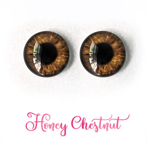 Honey Chestnut - Premium Adhesive Glass Irises for Infinity™ Doll Eyes