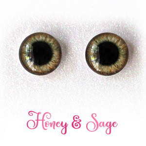 Honey & Sage - Premium Adhesive Glass Irises for Infinity™ Doll Eyes