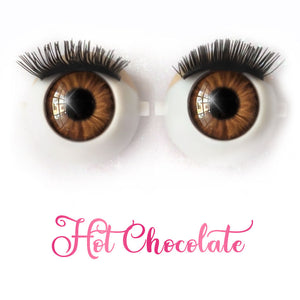Hot Chocolate - Premium Classic Infinity™ Blinking Doll Eyes