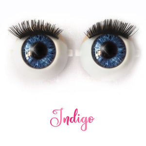*IMPERFECT* Indigo - Premium Classic Infinity™ Blinking Doll Eyes