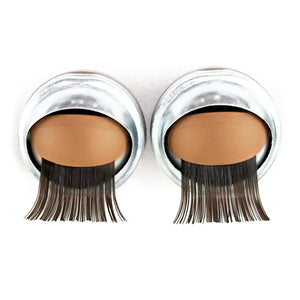 Medium Skin Eyelids, Black-Brown Eyelashes - Infinity™ Premium Base Blinking Doll Eyes