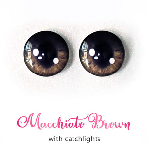Macchiato Brown (Anime) - Premium Adhesive Glass Irises for Infinity™ Doll Eyes