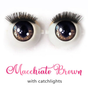 *IMPERFECT* Macchiato Brown (Anime) - Premium Classic Infinity™ Blinking Doll Eyes