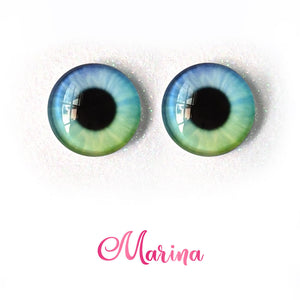 Marina - Premium Classic Infinity™ Blinking Doll Eyes (Light Skin Eyelids, Black-Brown Eyelashes)