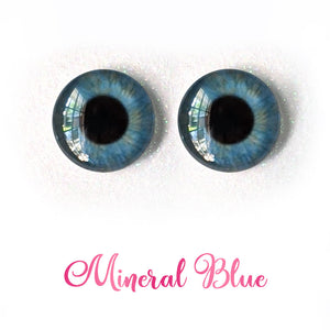 Mineral Blue - Premium Adhesive Glass Irises for Infinity™ Doll Eyes